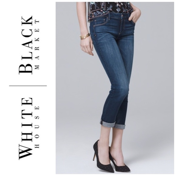 White House Black Market Denim - WHITE HOUSE BLACK MARKET BLAC CROP LEG JEANS